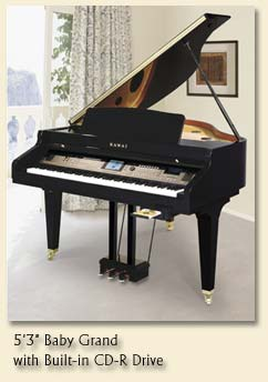 Kawai, CP205 Kawai Digital Baby Grand with CD-R Drive